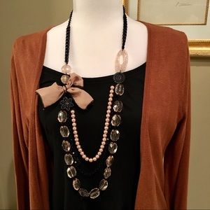 "32"" Decorative Necklace Beads Chain Ribbon"